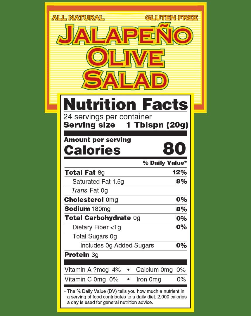 Jalapeno Olive Salad Nutrition