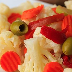 Prosciutto with Olive Salad & Giardinera