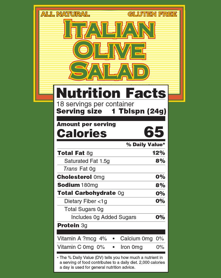 Italian olive salad nutrition